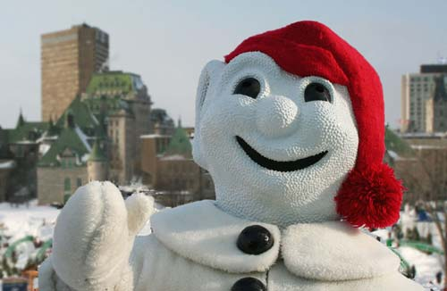 the snowman of the quebec city winter carnival