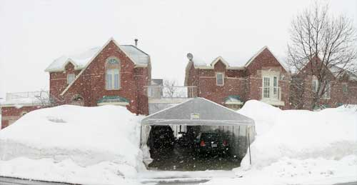 snow canopy also known as a tempo keeps driveway free of snow & A snow shovel is something youu0027ll need to survive a Canadian winter