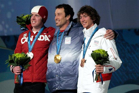 2010 Winter Olympic men's Snowboard Cross medalists